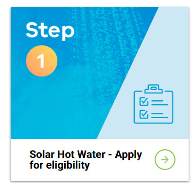 solar hot water - apply for eligibility