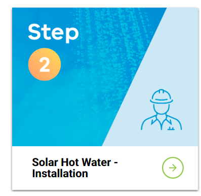 solar hot water - installation