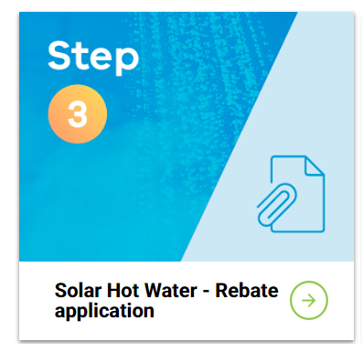 solar hot water - rebate application
